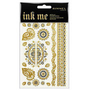 Rimmel Ink Me Sticker Tattoos Metallic Gold siirtotatuointi