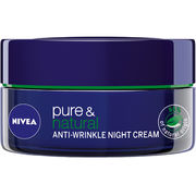 NIVEA 50ml Pure & Natural Anti-Wrinkle yövoide