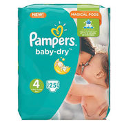 25kpl - Pampers Baby Dry 8-16kg/4 teippivaippa