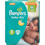 23kpl - Pampers Baby Dry 11-16kg/5 teippivaippa