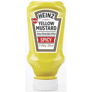 Heinz 220ml Yellow Mustard Spicy