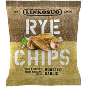 Linkosuon Rye Chips Roasted Garlic ruissipsi 150g