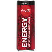 12kpl Coca-Cola Energy Zero energiajuoma 250ml