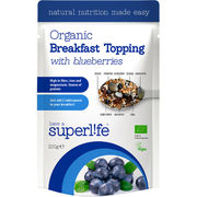 Superlife Organic with Blueberries luomuaamiaissekoitus 200g
