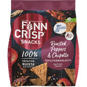 Finn Crisp Snacks Roasted Peppers & Chipotle ruislastu 150g