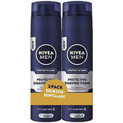 NIVEA MEN Protect & Care partavaahto 2x200ml