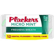 Plackers Micro Mint travel case, 12 kappaletta