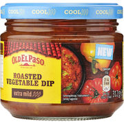 Old El Paso Roasted Vegetables Dip extra mild salsakastike 312g