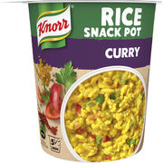 8kpl Knorr Rice Snack Pot Curry riisi-ateria 87g