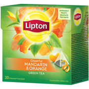 Lipton Cheerful Mandarin & Orange vihreä pyramiditee 20ps