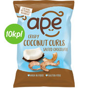 10kpl Ape Crispy Coconut Curls Salted Chocolate