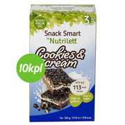 10kpl Nutrilett 3x30g Cookies and cream keksipatukka