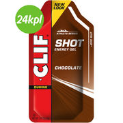 24KPL CLIF Shot energiageeli Chocolate 34g