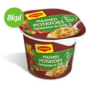8kpl Maggi 5 Minute Meal 42G Mashed Potatoes Jalapeno&Chili