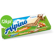 12kpl Alpino Hazelnut Wafer 140g has.pähkinävoi