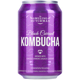 The Smiling Dutchman Black Currant Kombucha teejuoma 330ml