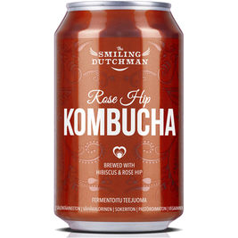 The Smiling Dutchman Rose Hip Kombucha teejuoma 330ml