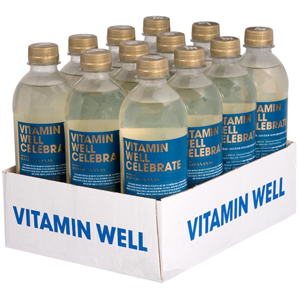 12kpl - Vitamin Well Celebrate mango-ananasjuoma 500ml