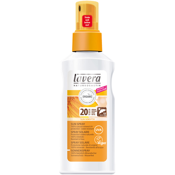 Lavera Sun Spray SPF 20 aurinkovoide 125ml