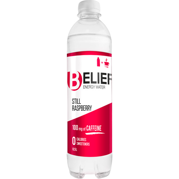 Belief 50cl Still Vadelma Energiavesi
