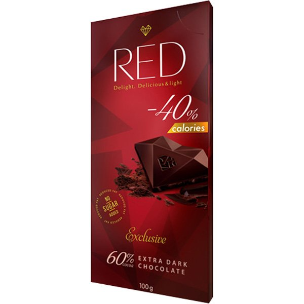 Red Exclusive Extra Dark tumma suklaalevy 60% kaakaota 100g