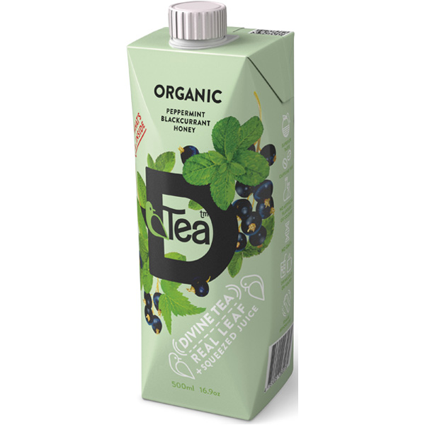D'Tea Peppermint-Blackcurrant-Honey teejuoma luomu 500ml