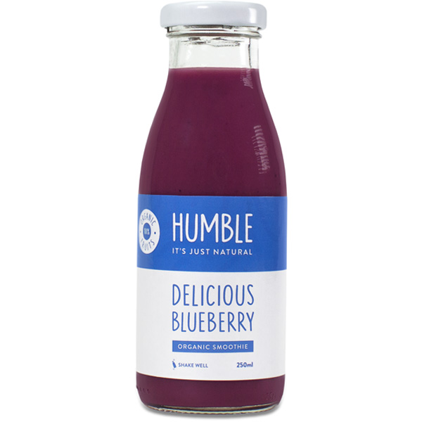 Humble Delicious Blueberry luomu mustikkasmoothie 250ml