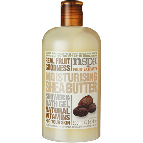 nspa Fruit Extracts Moisturising Shea Butter suihkugeeli 500ml