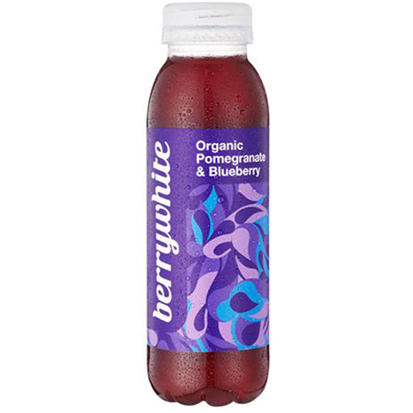 Berrywhite Organic Pomegranate & Blueberry 330ml