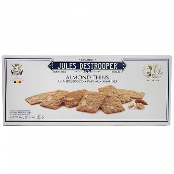 Jules Destrooper Almond Thins Mantelikeksi 100g