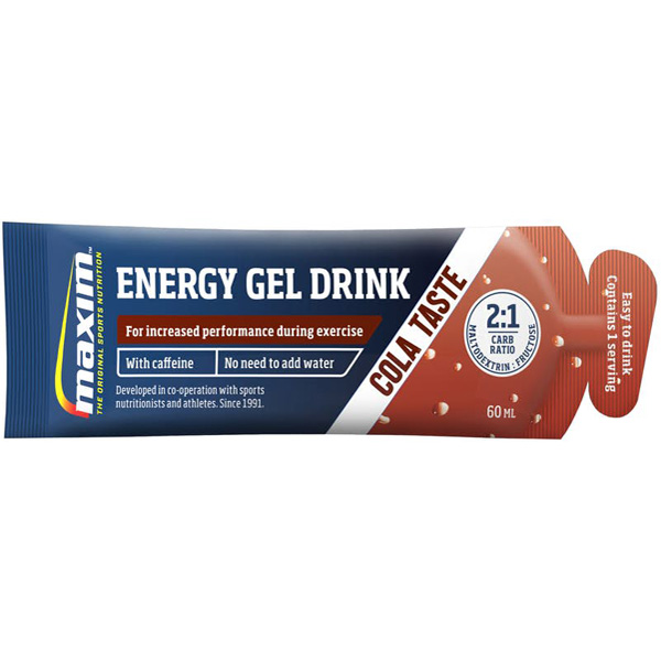 25kpl Maxim Instant Gel Drink Cola with Caffein energiageeli 60ml