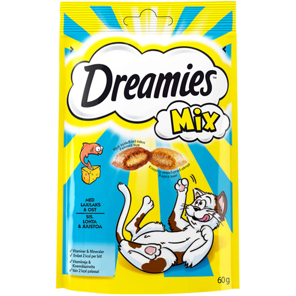 Dreamies 60g Mix lohi&juusto