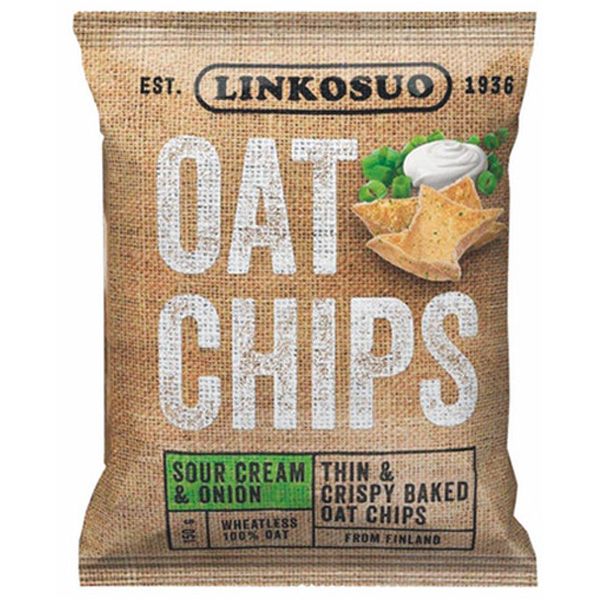 Linkosuo Oat Chips Sour Cream&Onion 150 g
