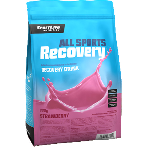 SportLife All Sports Recovery Strawberry palautumisjuomajauhe 800g