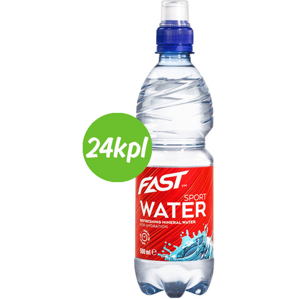 24kpl FAST Sport Water mineraalivesi 500ml