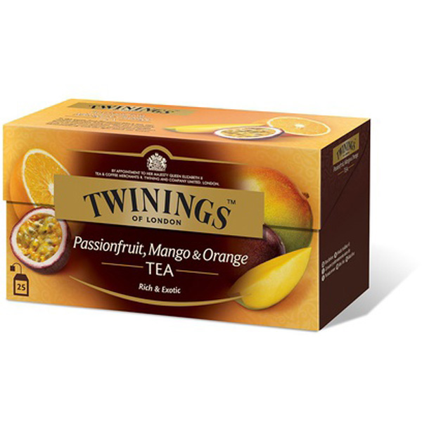 TWININGS 25PS/50G PASSION-MANGO-ORANGE