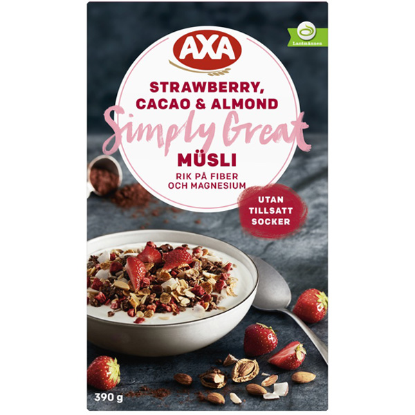 AXA Müsli Strawberry, Cacao & Almond 390g