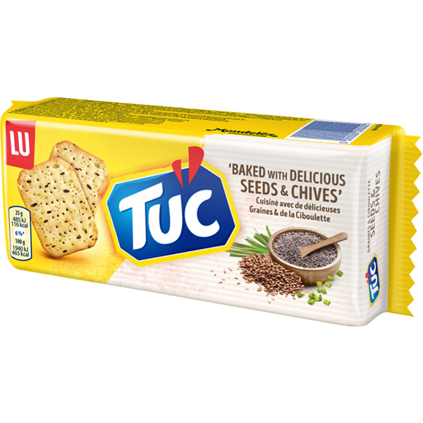 LU 105g TUC Seeds&Chives Suolakeksi