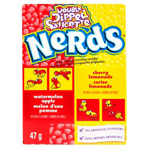 NERDS WATERMELON/APPLE ( DOUBLE DIPPED) 46,7 g