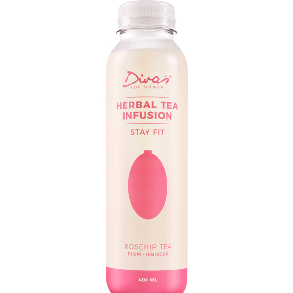 Diva's Herbal Tea Infusion Stay Fit ruusunmarja teejuoma 400ml