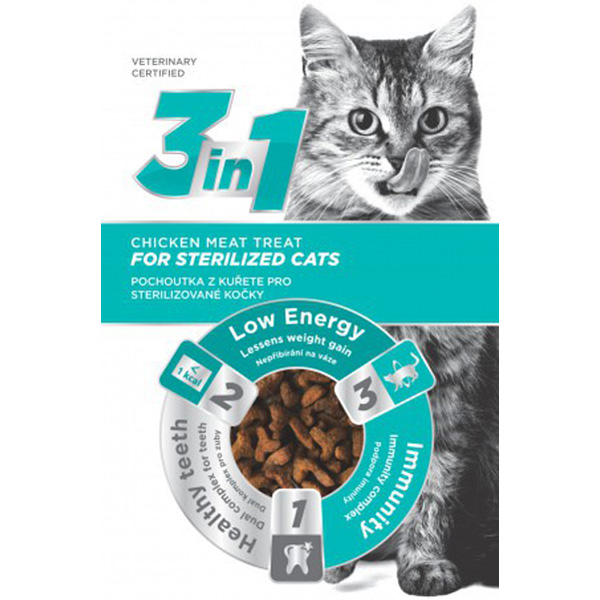 3IN1 Cat Treat Sterile Chicken 80g
