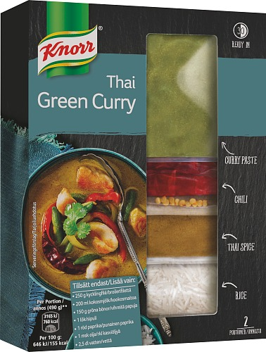 Knorr 7kplx 169g Thai Green Curry ateria-ain