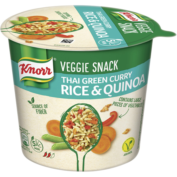 Knorr 69g Veggie Snack Thai Green Curry