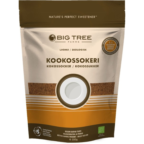 Big Tree Farms kookossokeri 500g, LUOMU