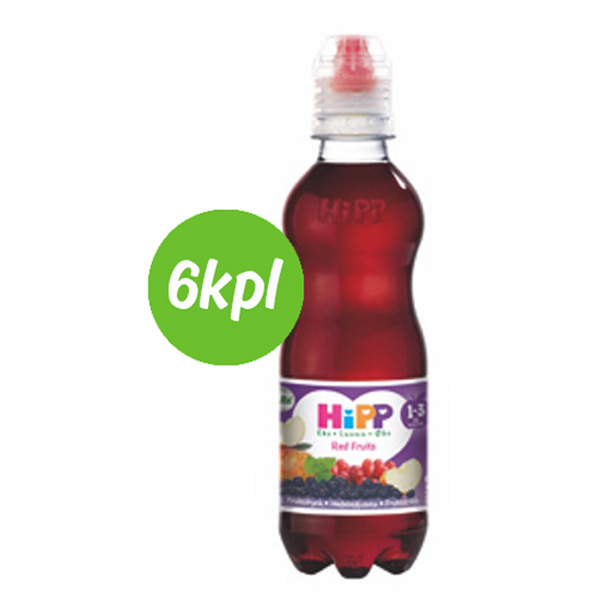 6kpl HiPP luomu Red Fruits hedelmäjuoma 300ml