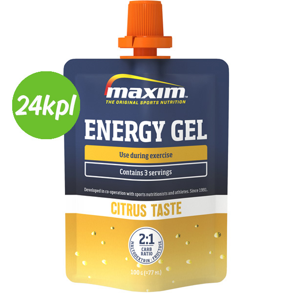 24kpl Maxim Energy Gel Citrus 100g