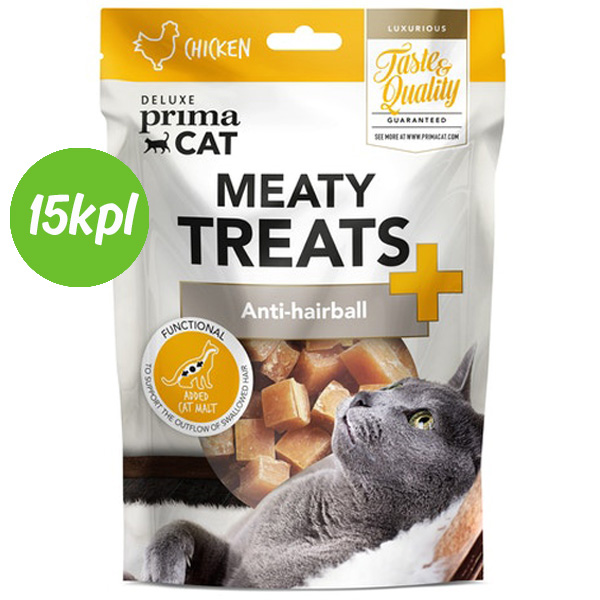 15kpl DPC Meaty Treats - Anti-hairball 30 g