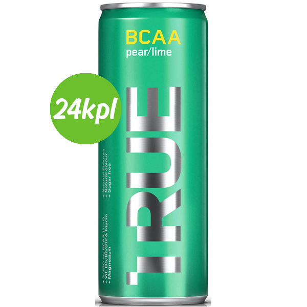 24kpl TRUE BCAA juoma Pear / Lime 330ml