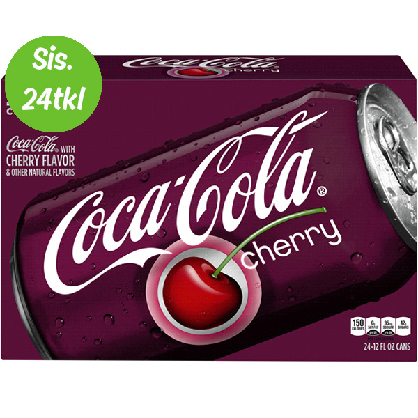 24kpl Cherry Coke 355 ml