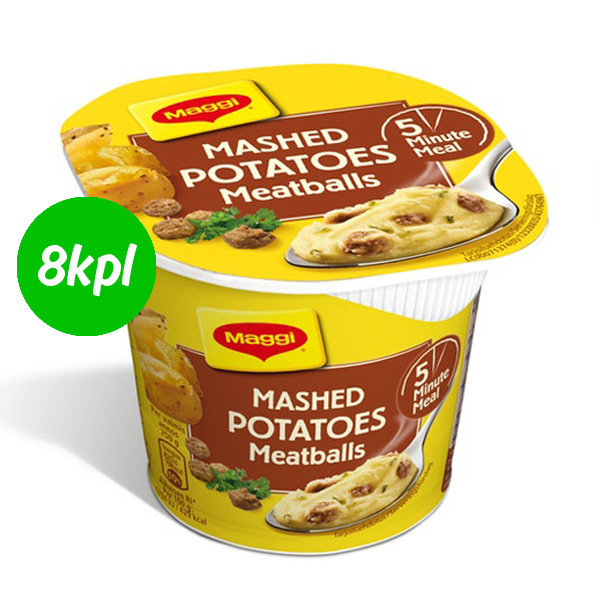 8kpl Maggi 5 Minute Meal 46g Mashed Potatoes & Meatballs